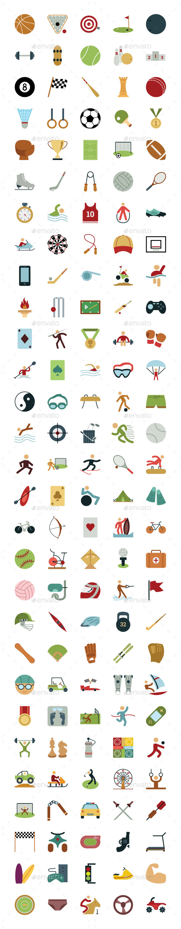 GraphicRiver 145 Sports and Games Vectors 10706602