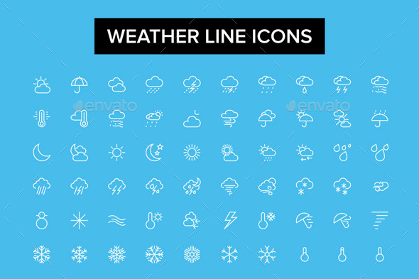 GraphicRiver Weather Line Icons 10706732