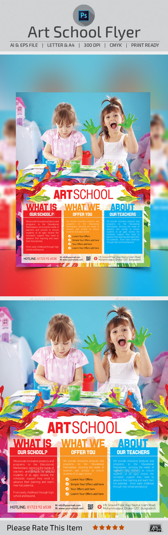 GraphicRiver Art School Flyer Template 10706910