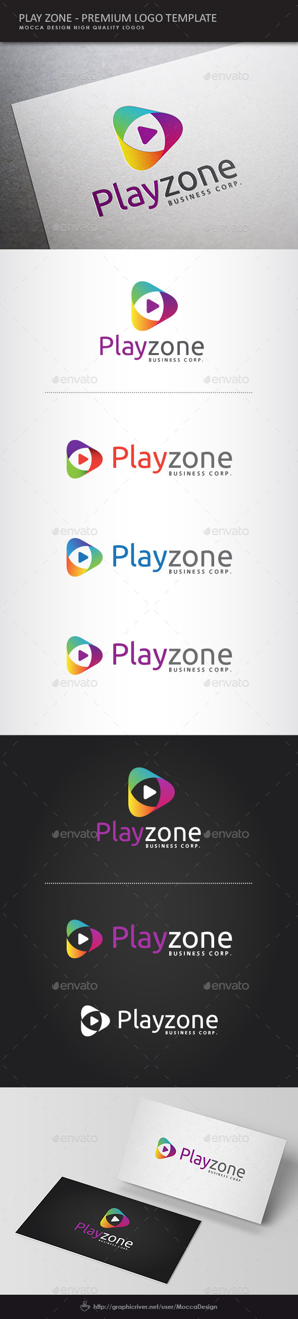 GraphicRiver Play Zone Logo 10706964