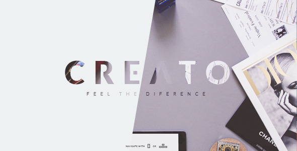 ThemeForest Creato Creative & Modern PSD Template 10707021
