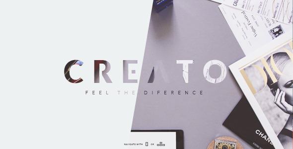 Creato - Creative & Modern PSD Template