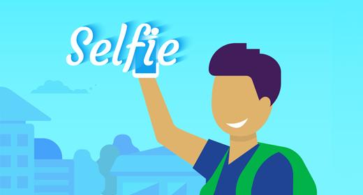 Selfie illustrations
