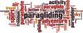 Paragliding Word Cloud Concept - PhotoDune Item for Sale