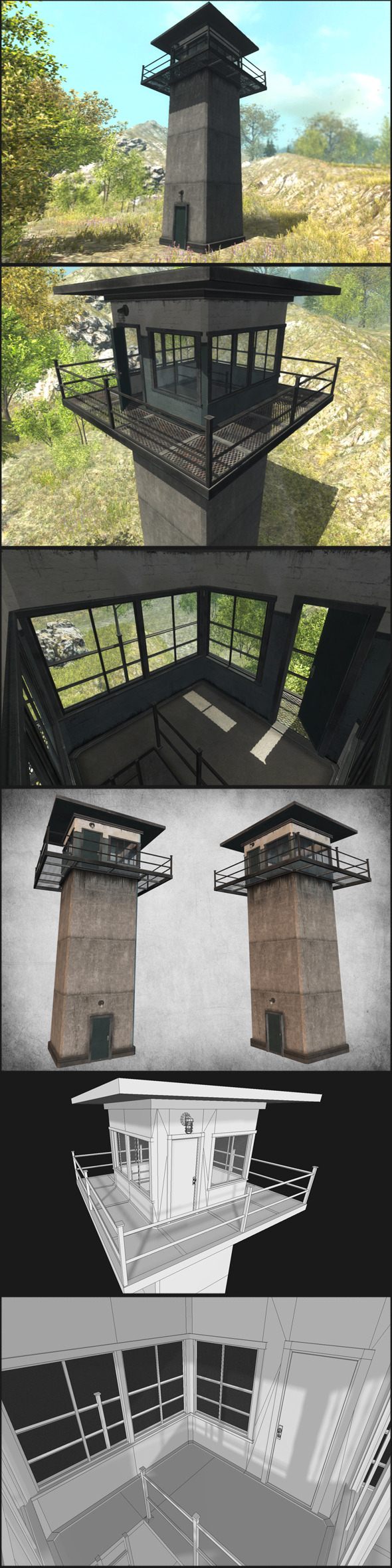 3DOcean Prison Tower 10707410