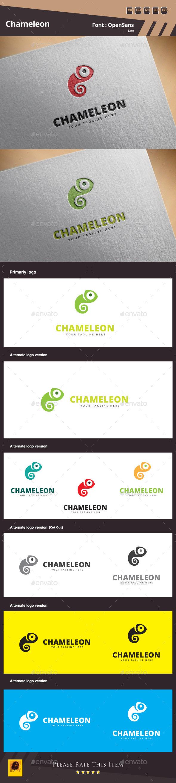 GraphicRiver Chameleon Logo Template 10707449