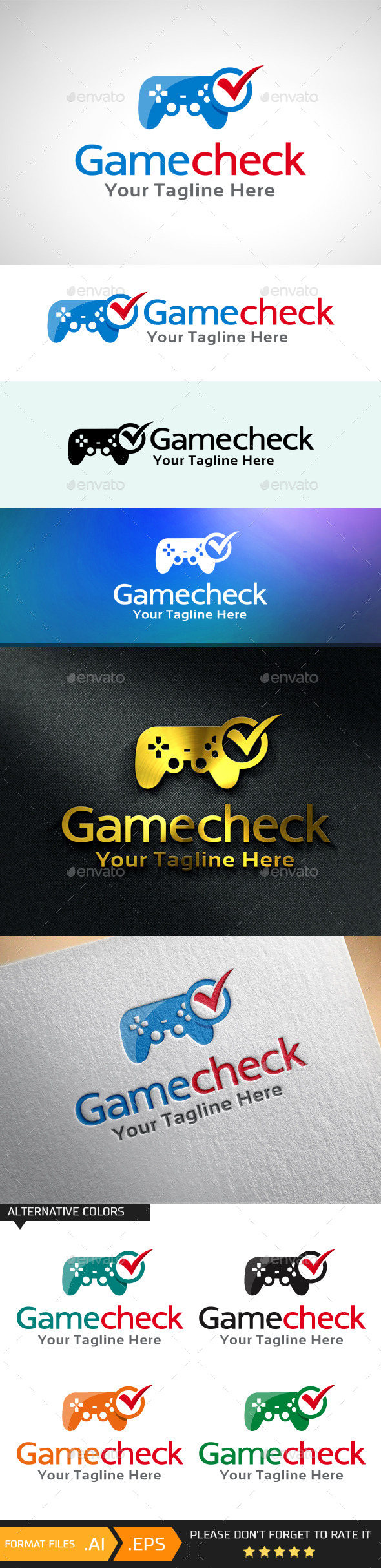GraphicRiver Game Check Tester Logo Template 10707745