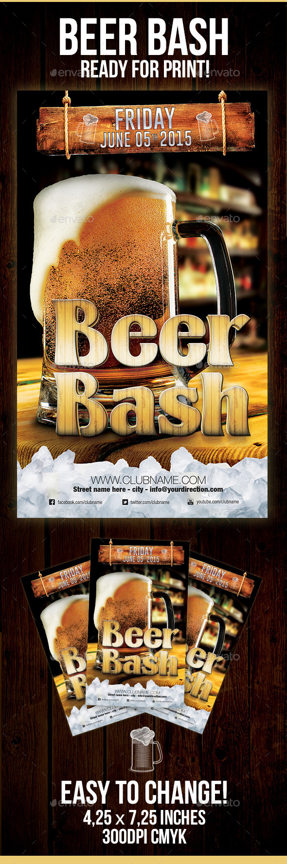 GraphicRiver Beer Bash Flyer 10707750