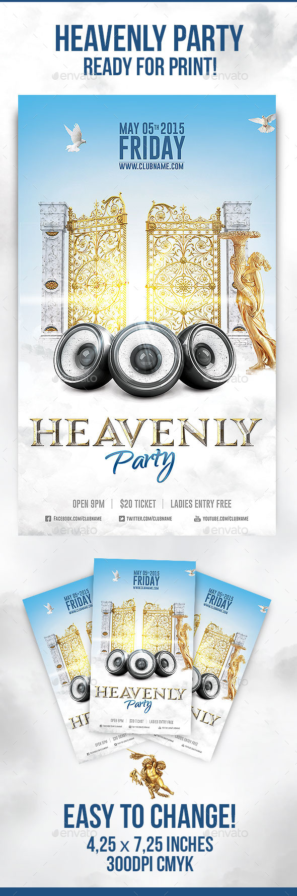 GraphicRiver Heavenly Party Flyer 10707766