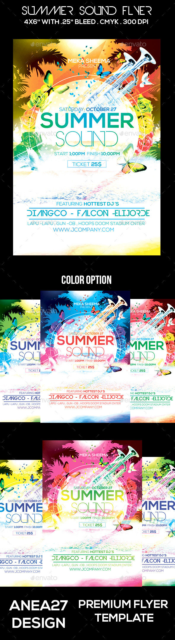 GraphicRiver Summer Sound Flyer 10640970
