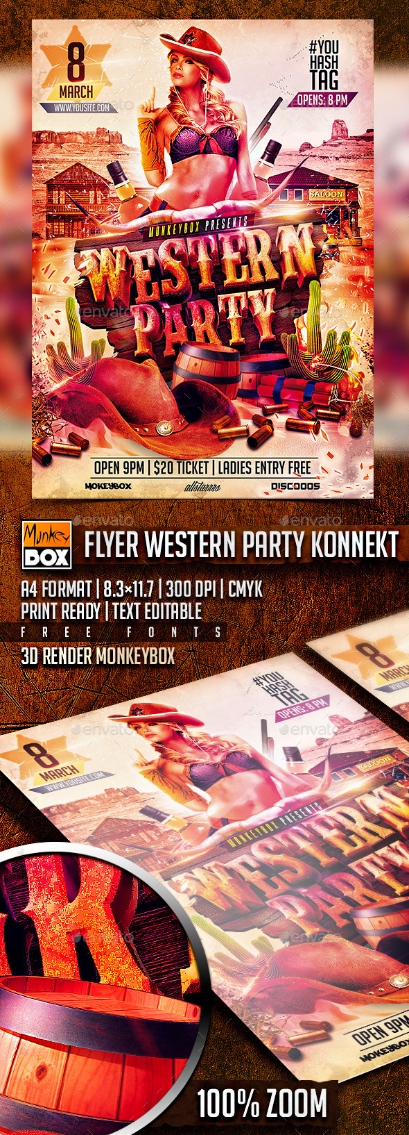 GraphicRiver Flyer Western Party Konnekt 10655898