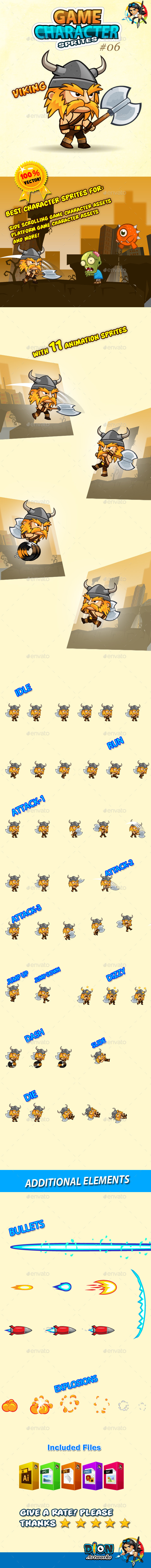 GraphicRiver Viking Character Sprites 06 10708118