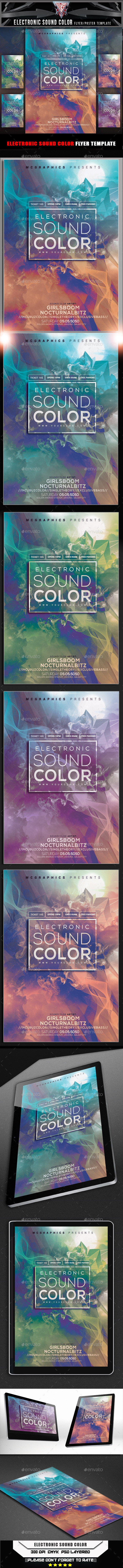 GraphicRiver Electronic Sound Color Flyer Template 10708247