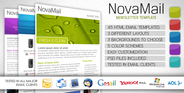 newsletter templates indesign. NovaMail Newsletter Template