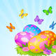 Easter Eggs Background - GraphicRiver Item for Sale