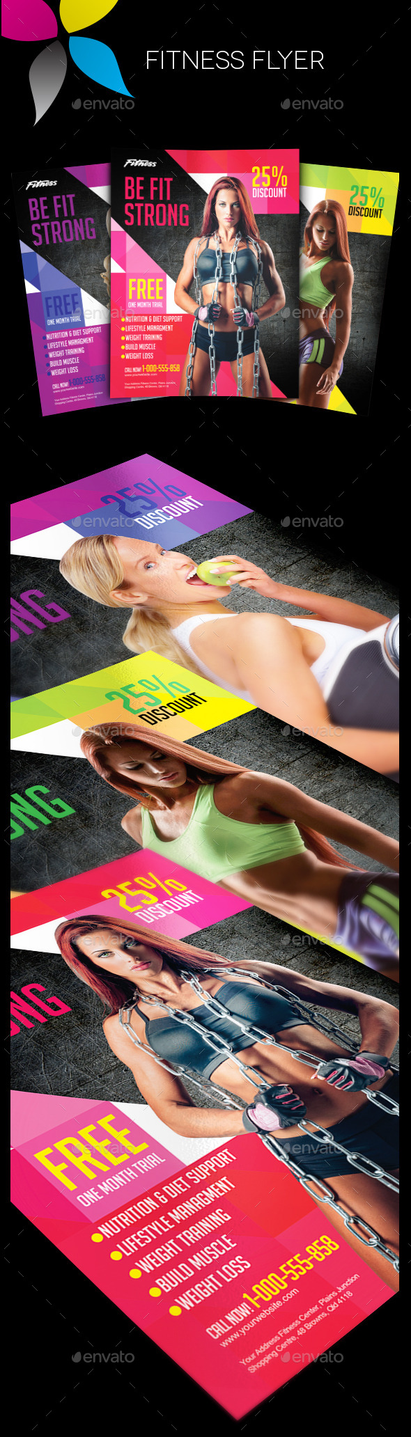 GraphicRiver Fitness Flyer 10713819