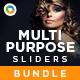 Mulipurpose Sliders Bundle - 12 designs - GraphicRiver Item for Sale