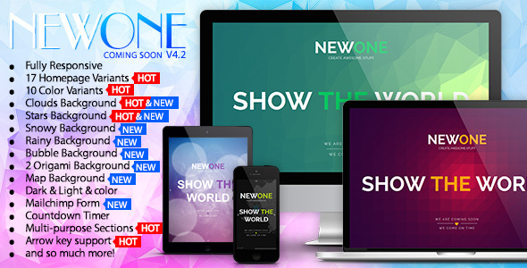Newone - Responsive Coming Soon Page - Under Construction Specialty Pages