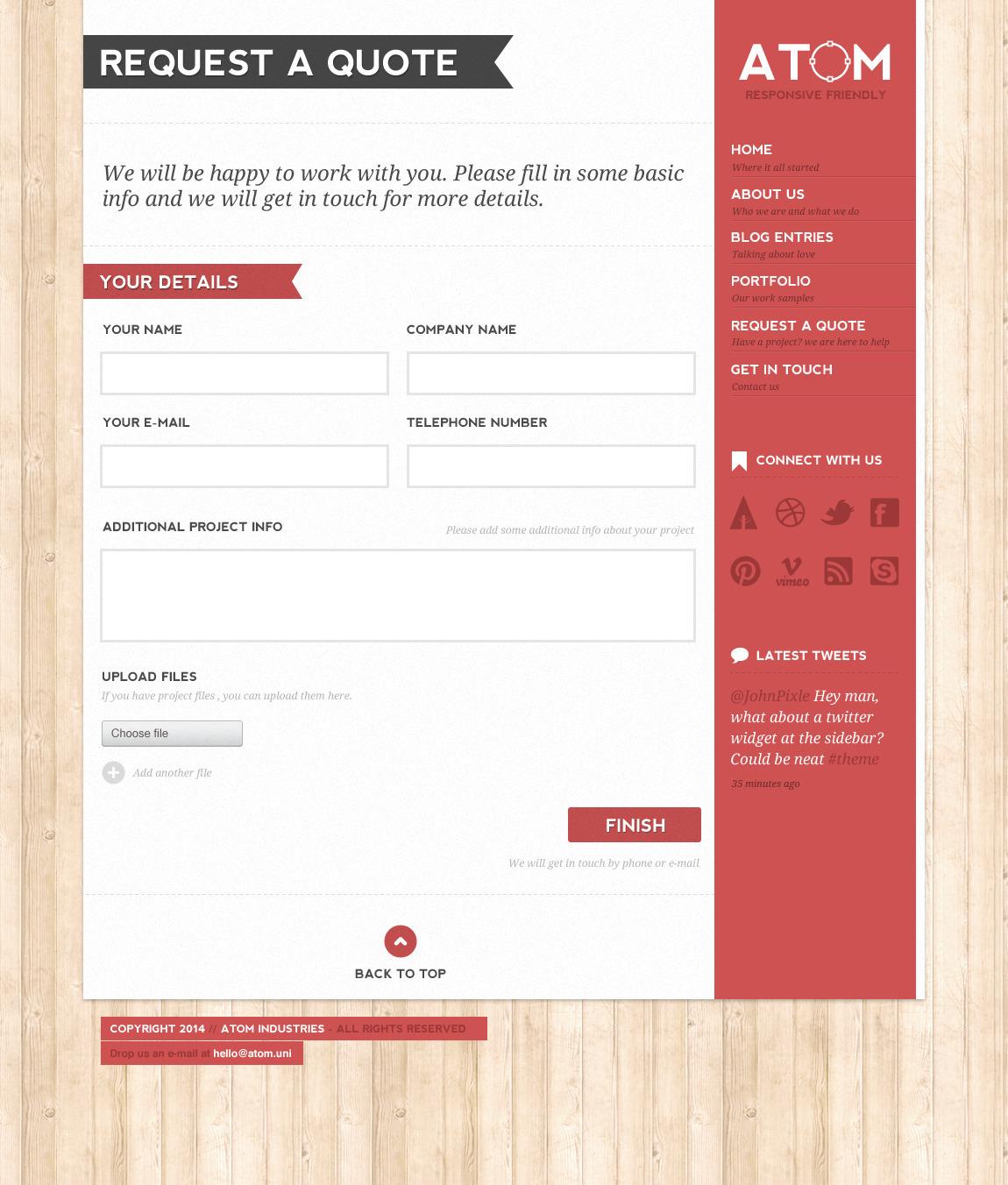 Home Interior Design Kits Atom A Design Studio Psd Template By Wpsitenet Themeforest