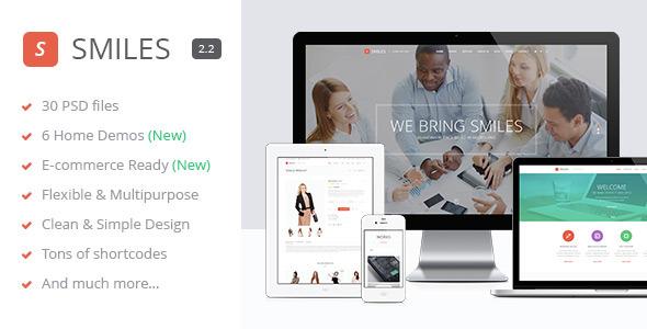 Smiles - Responsive Multi-purpose PSD Template