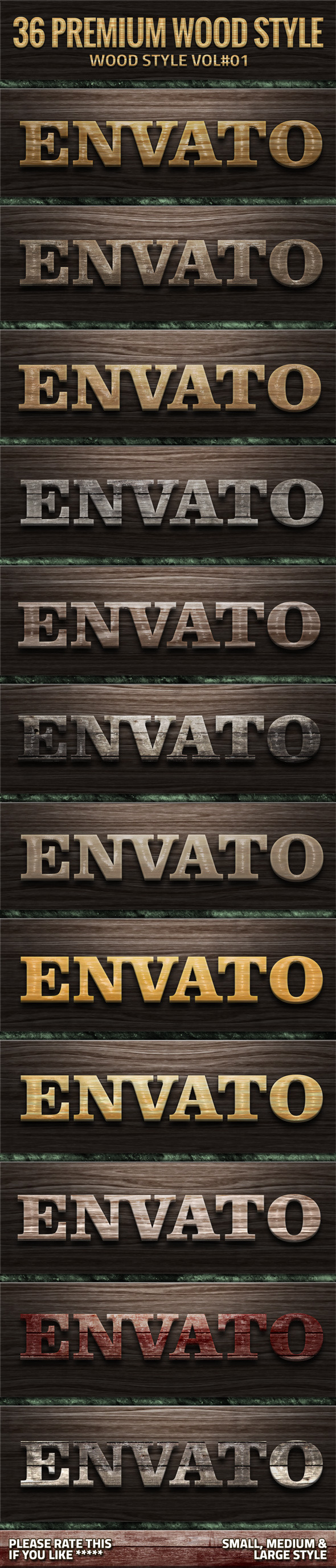 GraphicRiver 36 Wood Style V01 10714120