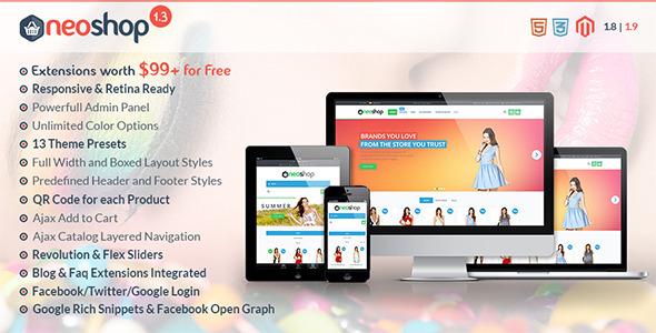 Neoshop - Responsive & Retina Ready Magento Theme - Shopping Magento