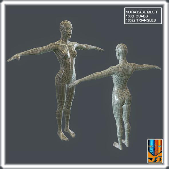 3DOcean Sofia Base Mesh 10714385