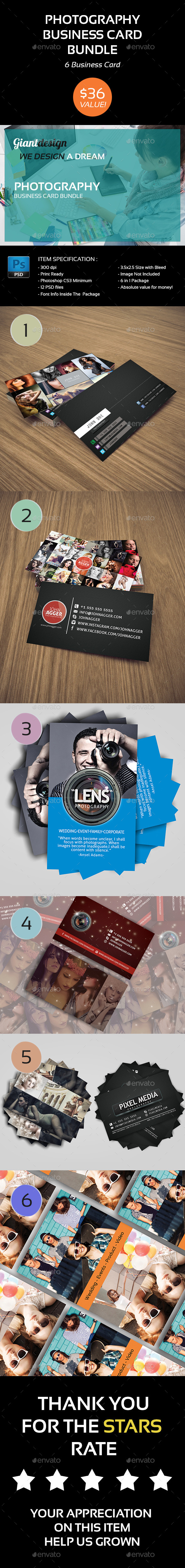 GraphicRiver Photography Business Card Bundle 10714391