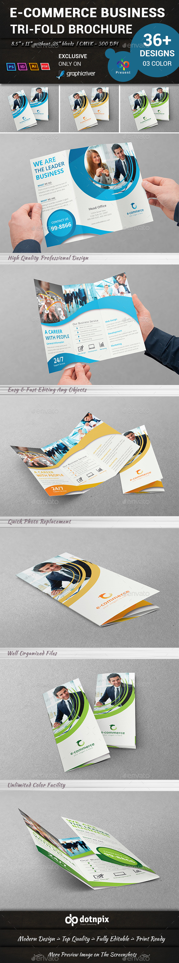 GraphicRiver E-Commerce Business Tri-Fold Brochure 10714416