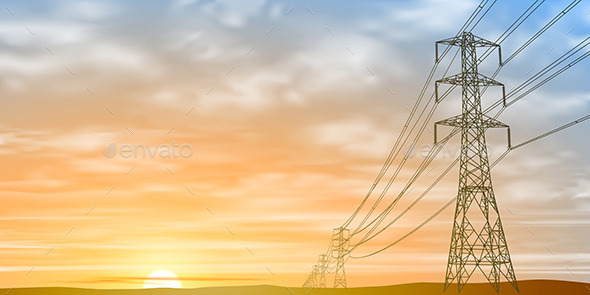 GraphicRiver Electrical Power Lines 10714468
