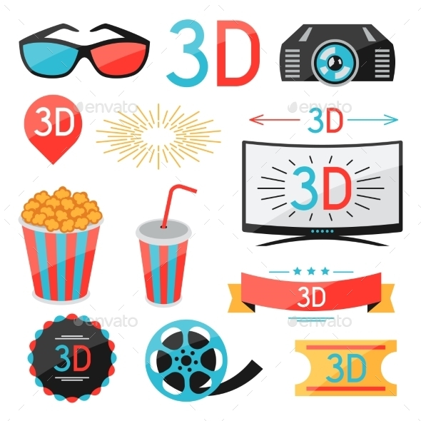 GraphicRiver Set of Movie Design Elements 10714543