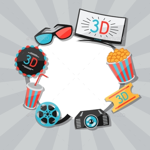 GraphicRiver Background of Movie Icons 10714547