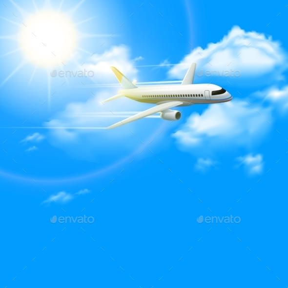 GraphicRiver Realistic Plane Poster 10714557