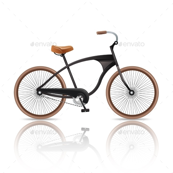 GraphicRiver Realistic Bicycle Isolated 10714560
