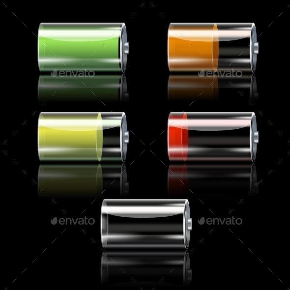 GraphicRiver Battery Set With Different Charge Levels 10714569