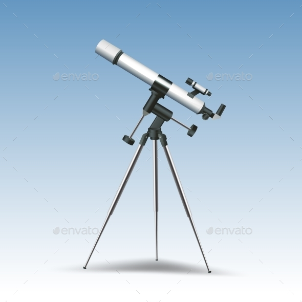GraphicRiver Telescope Realistic Illustration 10714579