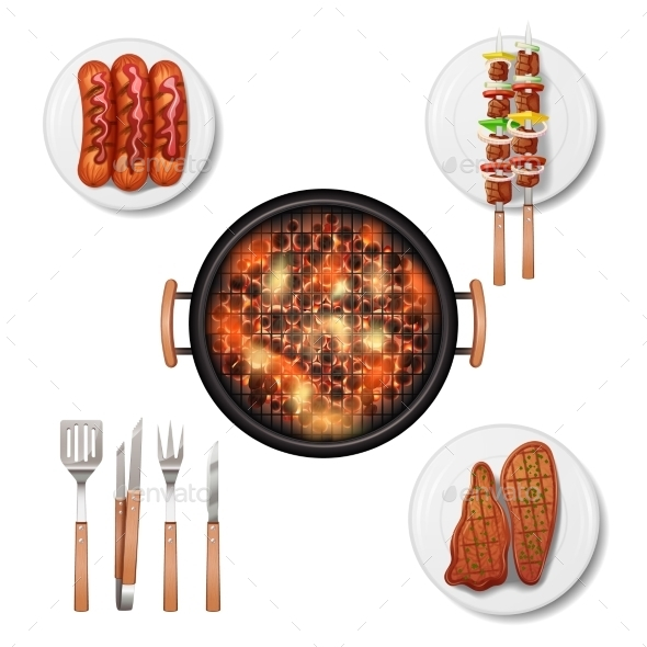 GraphicRiver Bbq Grill Set 10714585