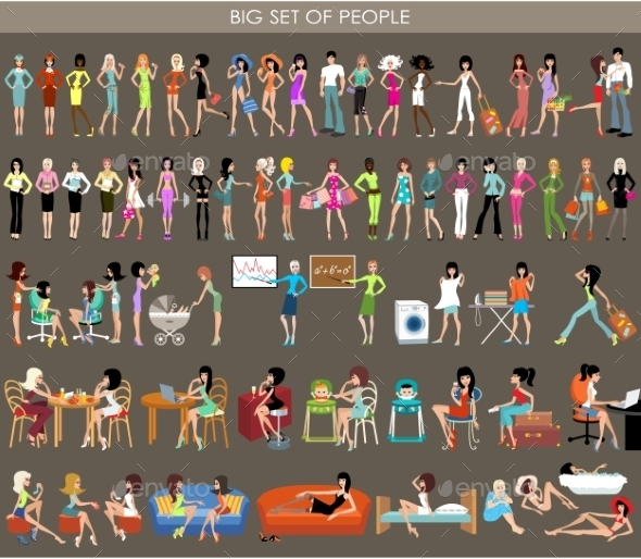 GraphicRiver Set of People 10714588