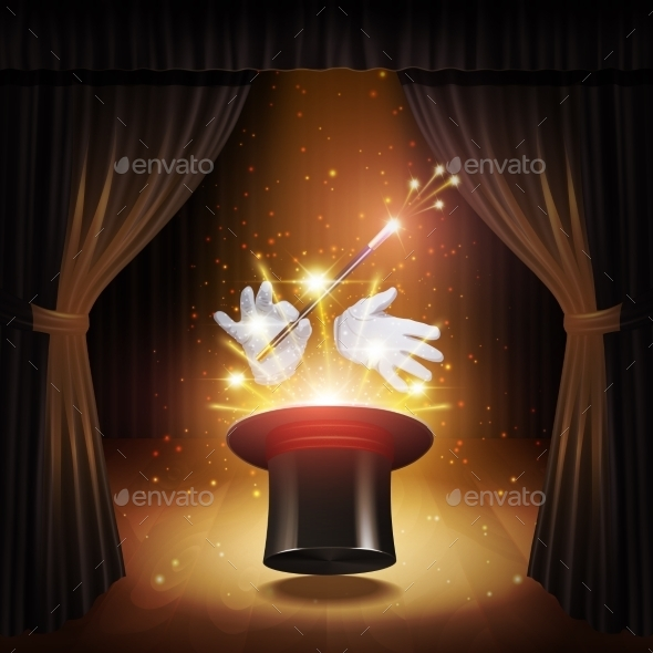 GraphicRiver Magic Trick Background 10714594