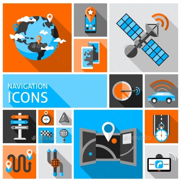 GraphicRiver Navigation Icons Set 10714618