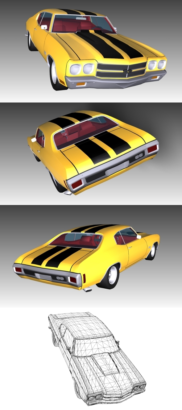 3DOcean Low Poly Chevrolet Chevelle 10714640