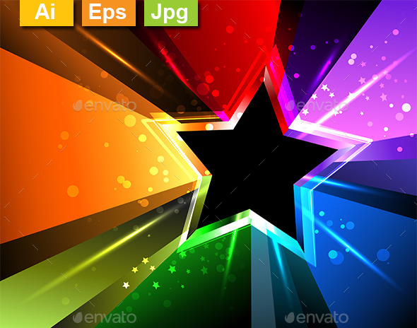 GraphicRiver Rainbow Star 10714662