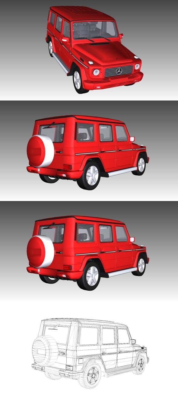Low Poly Mercedes Benz G500 - 3DOcean Item for Sale