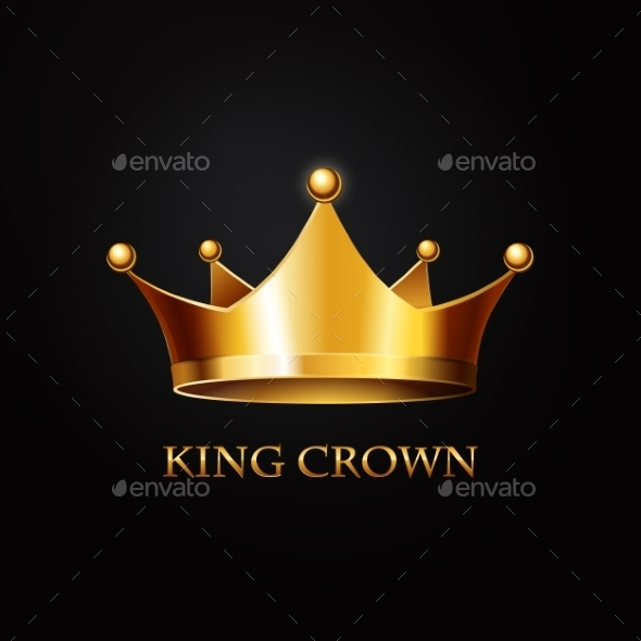 GraphicRiver Gold Crown on Black 10714851