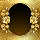 Oval Banner with Golden Roses - GraphicRiver Item for Sale