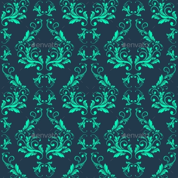 GraphicRiver Abstract Vintage Seamless Damask Pattern 10714870