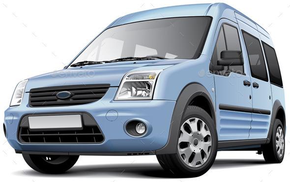 GraphicRiver American Compact Minivan 10714871