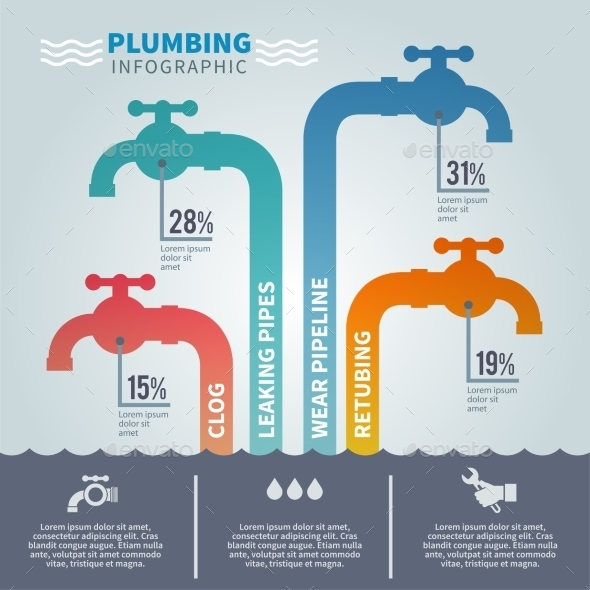 GraphicRiver Plumbing Infographic Set 10714900