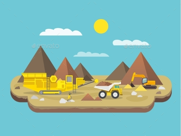GraphicRiver Quarry Flat Illustration 10714902