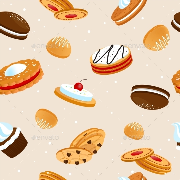 GraphicRiver Cookies Pattern 10714921